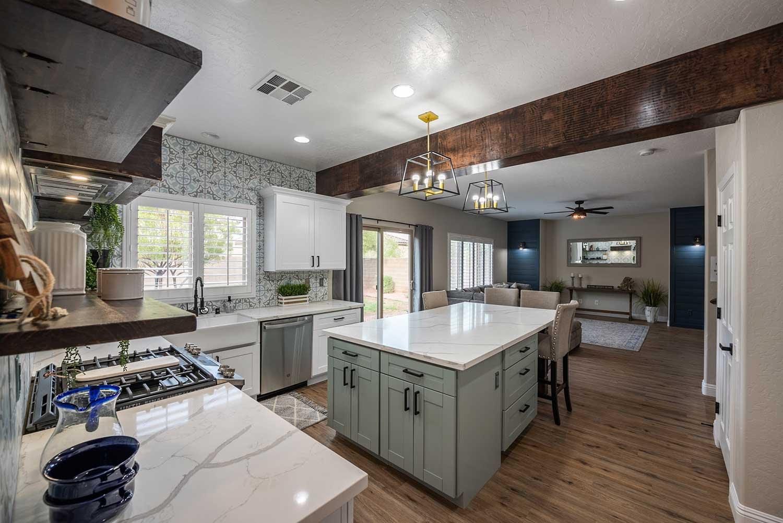 Remodeled Kitchen at 252 Pioneers Peak